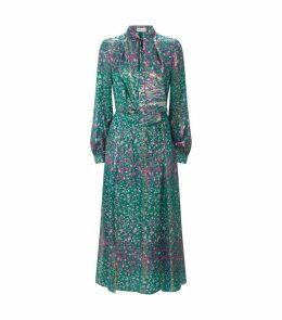 Floral Metallic Christy Dress