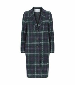 Pressed Wool Tartan Coat
