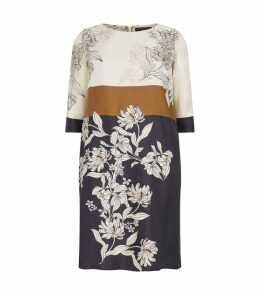 Silk Floral Tunic Dress