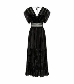 Lurex-Silk Midi Dress