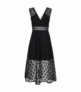 Floral Lace Midi Dress