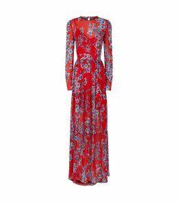 Sheer Ivy Print Dress