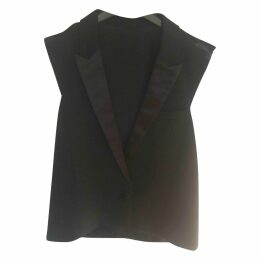 Black Synthetic Top