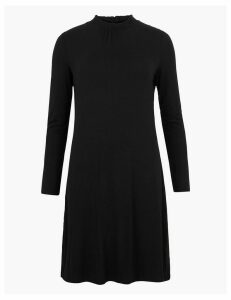 M&S Collection Jersey Long Sleeve Knee Length Swing Dress