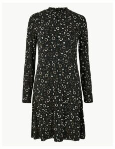 M&S Collection Floral Jersey Knee Length Swing Dress