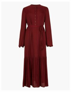 M&S Collection Jacquard Print Relaxed Midi Dress