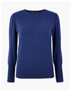 M&S Collection Round Neck Textured Jumper