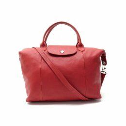 Pliage leather crossbody bag