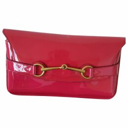 Emily patent leather clutch bag