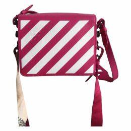 Binder leather crossbody bag