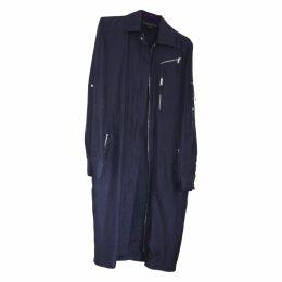 Silk trench coat