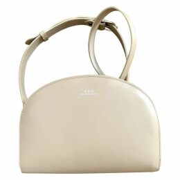Demi-lune leather crossbody bag