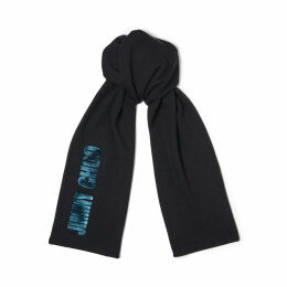 FABIA Teal Blended Wool Knit Scarf