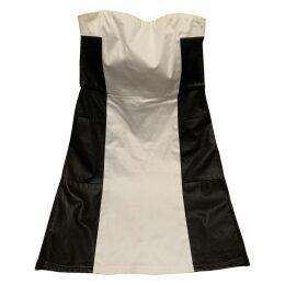 Leather mini dress