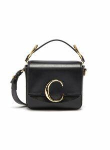 'Chloé C' mini leather top handle bag