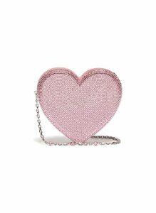 'Heart' crystal pavé minaudière
