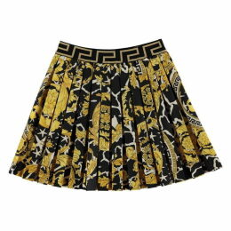 Young Versace Baroque Skater Skirt