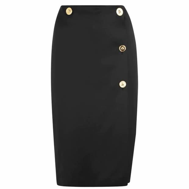 Versace Button Midi Skirt