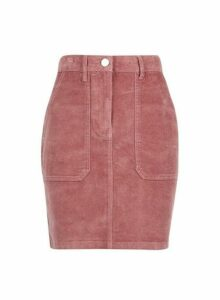 Womens Pink Cord Skirt- Pink, Pink