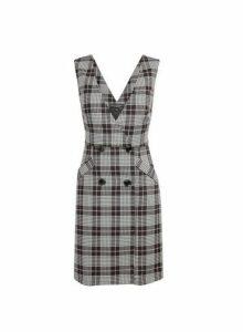 Womens Multi Colour Liz Check Print Wrap Dress- Multi, Multi