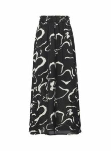 Womens **Vero Moda Black Printed Skirt- Black, Black