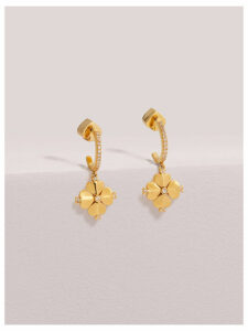 Legacy Logo Spade Flower Huggies - Clear/Gold - One Size