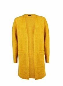 Womens Yellow Edge To Edge Cardigan- Yellow, Yellow
