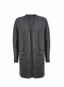Womens Charcoal Edge To Edge Cardigan- Grey, Grey