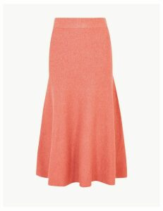 M&S Collection Knitted Fit & Flare Skirt
