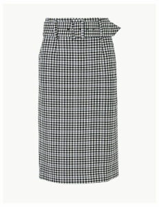 M&S Collection Gingham Pencil Skirt