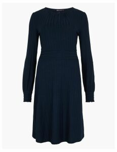 M&S Collection Ribbed Fit & Flare Dress