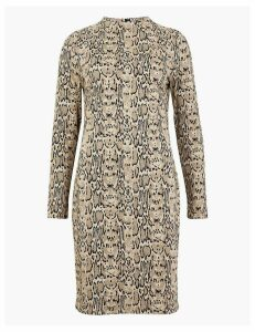 M&S Collection Jacquard Animal Print Shift Dress