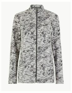 M&S Collection Panelled Printed Fleece Jacket