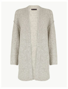 M&S Collection Ribbed Relaxed Fit Cardigan