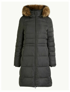 M&S Collection Faux Fur Trim Hood