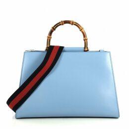 Bamboo leather handbag