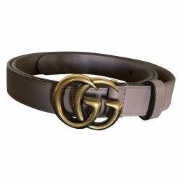 GG Buckle leather belt