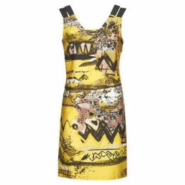 Mado Et Les Autres  Sleeveless printed dress  women's Dress in Yellow