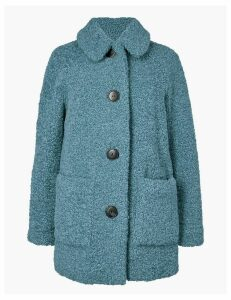 M&S Collection Faux Fur Textured Coat