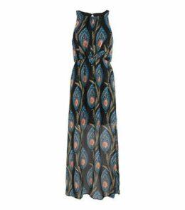 Mela Black Paisley Floral Maxi Dress New Look