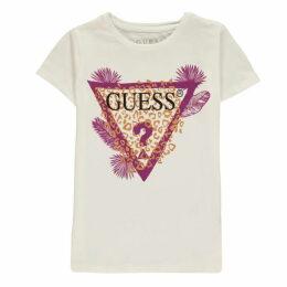Guess Leopard Logo T Shirt