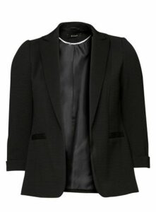 Black Ribbed Blazer, Black