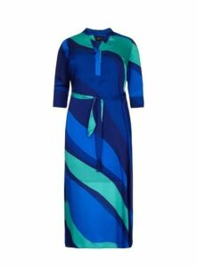 ** Live Unlimited Blue Printed Maxi Dress, Mid Blue