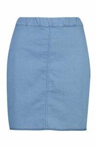 Womens Power Stretch Denim Skirt - blue - 16, Blue