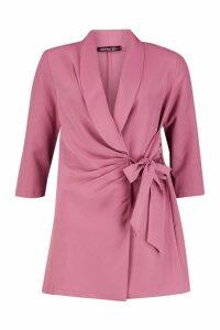 Womens Wrap Front Detail Blazer Dress - purple - 14, Purple