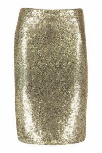 Womens Plus Sequin Midi Skirt - metallics - 20, Metallics