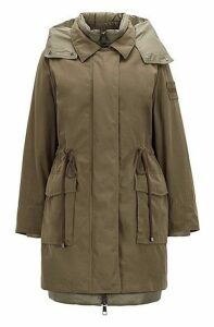 Two-in-one parka with detachable down jacket