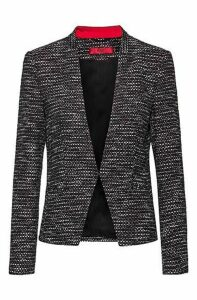 Regular-fit jacket in a structured cotton blend