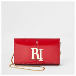 Womens Red patent RI underarm clutch bag