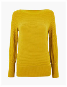 M&S Collection Slash Neck Long Sleeve Jumper